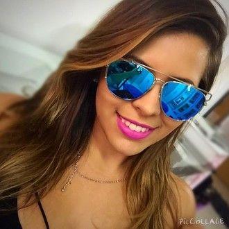 36291e190 Óculos de Sol Dior Technologic espelhado Azul - Lanna Luzz