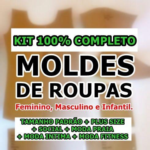 4edaf725d Kit 30 Modelagem - Moldes de Roupas Fem + Masc + Kids - MOLDES ...