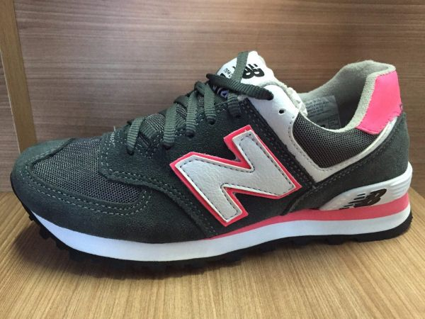 be631c614505d Tênis New Balance 574 Cinza c  Rosa - Outlet Ser Chic