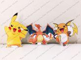 3 Displays de mesa - Pokémon