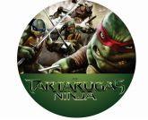 Papel Arroz Tartarugas Ninja Redondo 007 1un