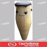 006037 - Atabaque Tradicional Claro 110 cm