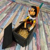 Pinóquio Marionete Articulado de Madeira 27cm
