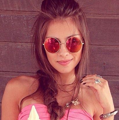 Óculos Redondo Pink