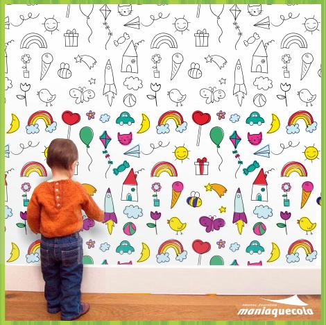 papel de parede para pintar desenhos infantis papel 196