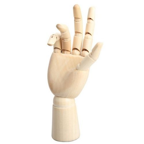 Par de Mãos de Madeira Articuláveis
