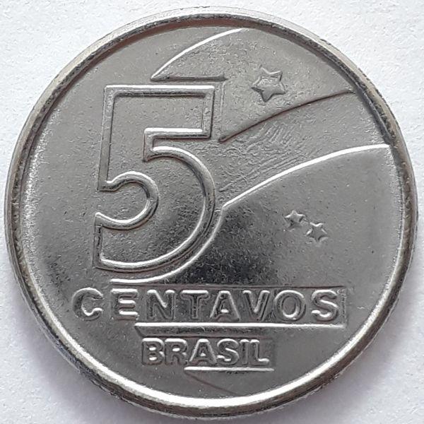 5 Centavos 1989 SOB/FC