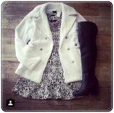 Casaco de lã Branco