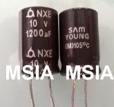 ELETROLÍTICO 1200X10 1200uFX10V 105º 10X17mm SAM YOUNG