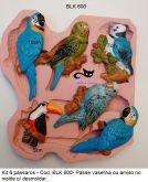 Molde silicone pássaros c/ 06