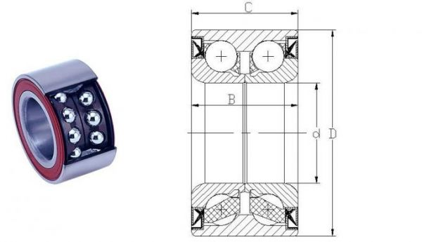 DAC39680037 (BAHB311315) Rolamento Roda Dianteira para  Gol 80>94, Parati 83>94, Passat 74>89,