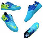 b1923f170a56a Chuteira Futsal Nike 5 Bomba Finale Verde Água