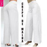 pantalona branca ( P-M-G ),tecido crepe de malha, muito elegante, gramatura média