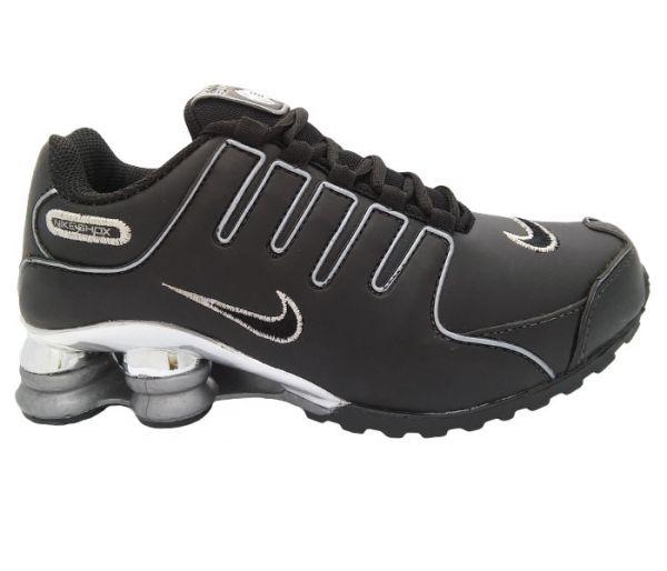 c04dfcf4ce Nike Shox NZ Cromado Preto e Prata - jacaré buscapé