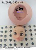 kit molde rosto doll + 30 pares de olhos resinados  (0099/380a P)