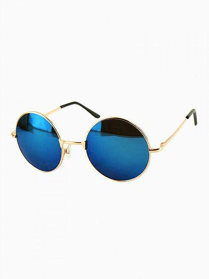 Óculos Redondo Azul