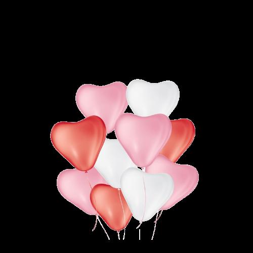 Balão Coração Sortido Nº6 50un