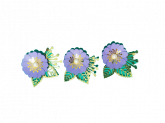 Kit Flores de Papel Roxa 3un