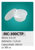 MC-300-CTP EMBALAGEM REDONDA C/ TAMPA 300 ML C/300 UN.