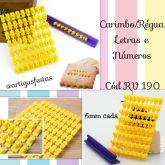 Carimbo/Régua Letras Números e Símbolos