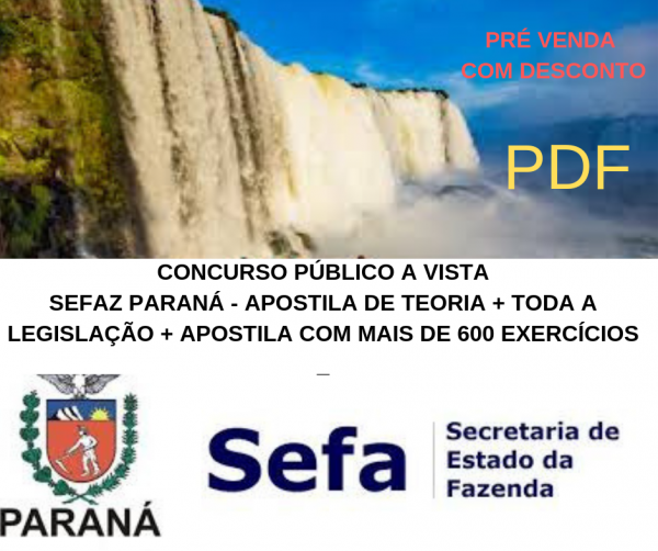 CURSO DE LEGISLAÇÃO TRIBUTÁRIA  ESTADUAL DO PARANÁ