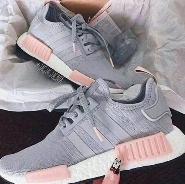 adidas rosa e cinza