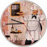 Relógio Parede Chefe Cozinha