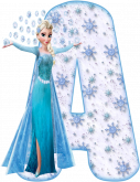 Alfabeto - Frozen Vestido de Gala 7 - PNG