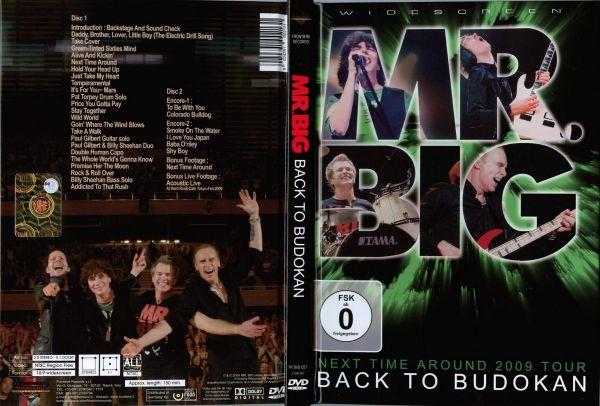 "Mr. Big - ""Back To Budokan""  2 DVDS, Digibook Nacional!!!"