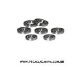 kit de Rolamentos da caixa de Transferencia ou Redução c/ 7 pçs Niva(novo) Ref.0255
