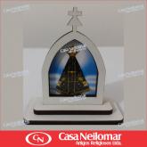 021145 - Capelinha de Madeira Decorada