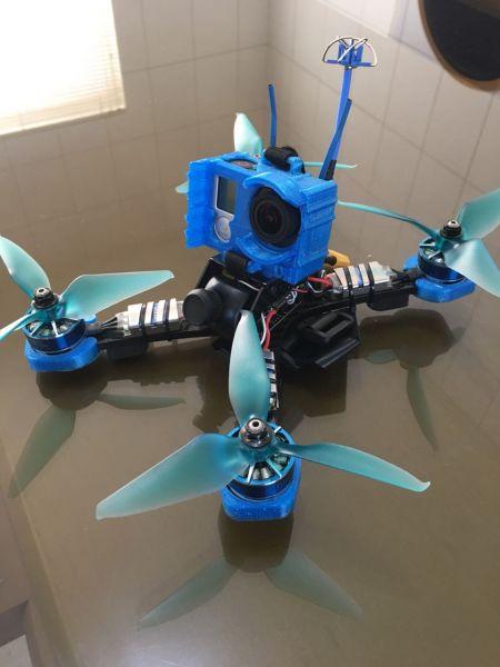 Protetor Gopro Hero 3 & 4 em TPU para Frame Diatone GT2 / GT200 / GT200N / GT200S NA COR AZUL