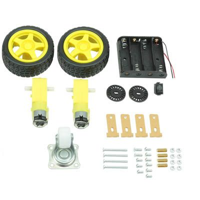 COD 1563 - Kit Chassi Robo 2wd Para Arduino -CHIP SCE