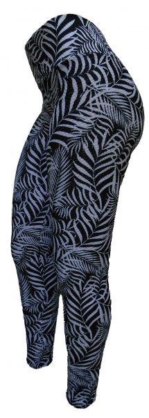 Legging Plus Size(60/62) em jacquard piquet estampado preto e branco