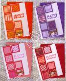 Kit 2 cartão happy birthday retalhos