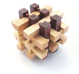 Quebra-cabeça De Madeira Cubo Raciocínio Lógico Q