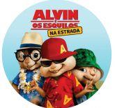 Papel Arroz Alvin e os Esquilos Redondo 010 1un