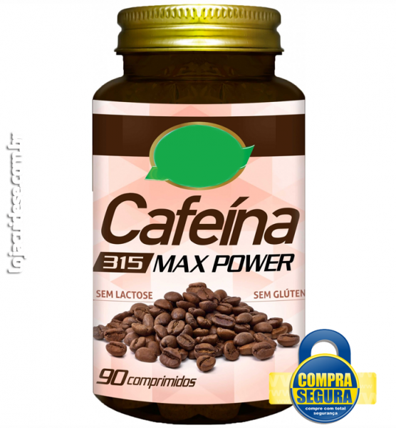CAFEÍNA MAX POWER 315MG - 90 Comprimidos