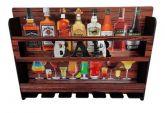 Bar Adega Madeira Parede Vinho Whisky Cachaça Porta Taça