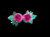 Kit Flores de Papel Rosa Pink 5cm 2un