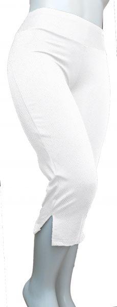pantacourt fenda branca (P-M-G), crepe de malha, gramatura média