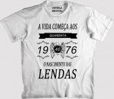 Camiseta O NASCIMENTO DAS LENDAS
