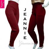 calça jeannie vermelha bolsos ( P-M-G),pala em ponta