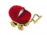 Carrinho de bebê, para brincos, anel e pulseira infantil, modelo CB004