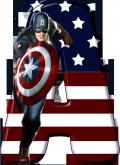 Alfabeto - Capitão America 5 - PNG