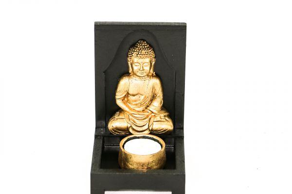 Porta Velas Para 1 vela com Buda Meditando 15 cm