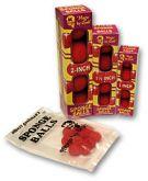 Bolas de esponja Gosh(4 bolas) de 1.5 polegadas vermelhas  #197