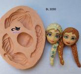 Kit Cabelo e Rosto Frozen Ana e Elsa