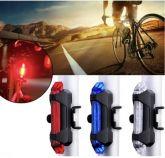 Lanterna Bicicleta 5 Leds Sinalizador Canote 15 Lm Dc 918