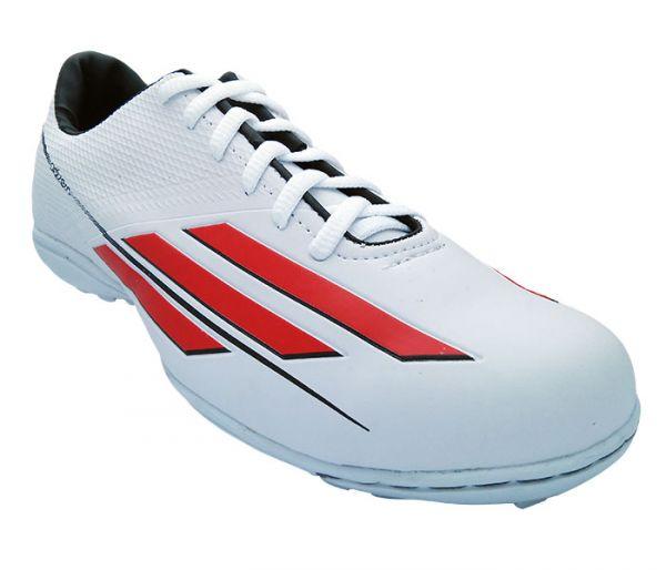 695d33fb5f Chuteira Society Adidas Adizero F50 Branco e Vermelho - - Mundo dos ...